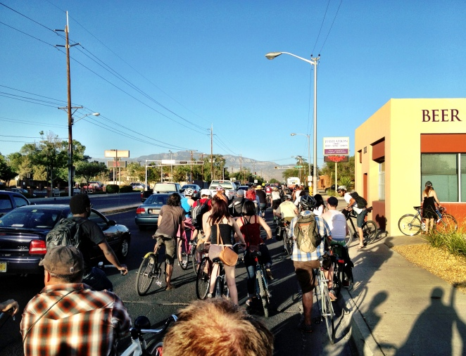 Critical mass ride, Albuquerque